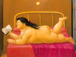 """""""Mujer leyendo"""" de Fernando Botero"""