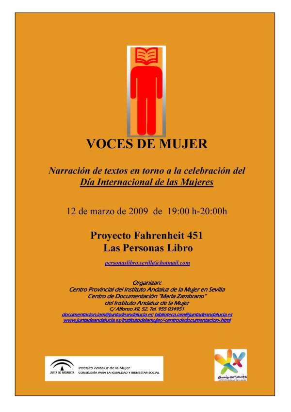 """Cartel """"Voces de Mujer"""""""